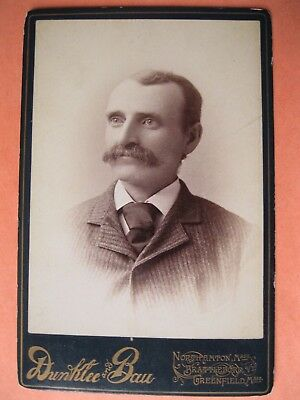 Cabinet Card Photo Man Harris Williams Athol, MA. by Dunklee's Greenfield, MA.