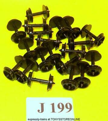 j199 jouef new spares 20x plastic wheelsets suits hornby,lima etc coaches,wagons