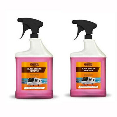 Black streak remover 1Litre two pack for caravan, motorhome cleaning