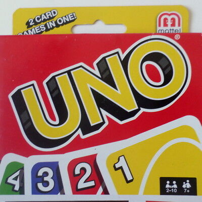 NEW Uno and Lowdown Card Game Combo Pack (2 Card Games in One) Mattel