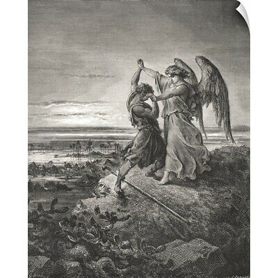 Wall Decal entitled Jacob Wrestling With The Angel