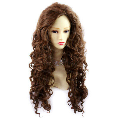 SEXY Wild Untamed Long Curly Wig Brown Auburn mix Ladies Wigs from WIWIGS UK