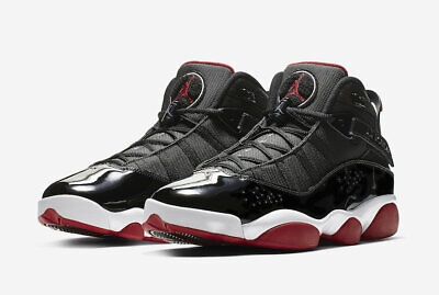 finest selection 9d3ef 4a323 NIKE AIR JORDAN 6 Rings Bred Black and Varsity Red White ...