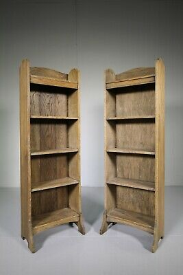 Pair of Heals 1930's Oak Bookcases-Labelled
