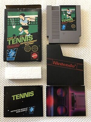 Tennis ( Nintendo Entertainment System ) NES , Complete in Box ,CIB • 5 Screw •
