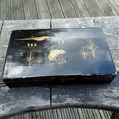 Antique Oriental Lacquered Box