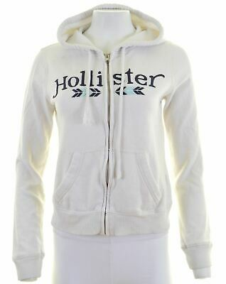 HOLLISTER Mens Hoodie Sweater Size 6 XS White Cotton  AB03