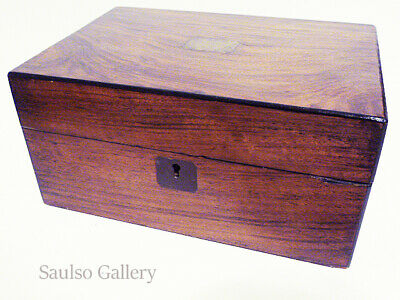 late 18th century large wooden tea caddie from prominent estate collection offer