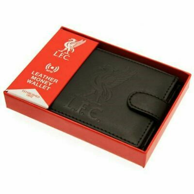 Liverpool FC Wallet RFID Anti Fraud Wallet ( Real Leather ) Gift Debossed Crest