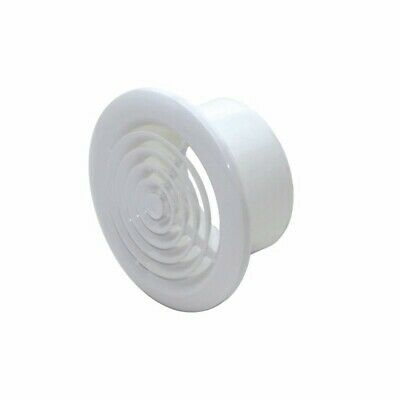 Ceiling Air Diffuser Vent White Round 100mm Grille for Bathroom, Toilet, Kitchen