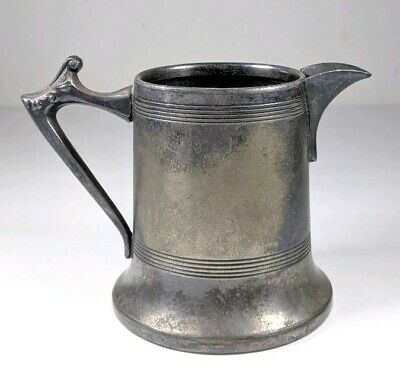 Vintage Antique Silver Plate Sheffield Made in USA Creamer Pitcher 3.25""