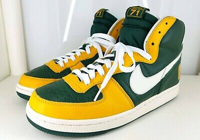 c727ee1a7c NIKE TERMINATOR HIGH Seattle Supersonics 71 Edition Green / Gold ...