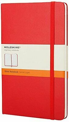 Moleskine Large Ruled Notebook Red  Notebook / Blank Book NEW
