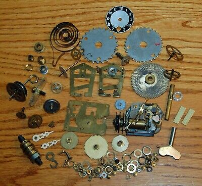 Mixed Lot of Vintage CLOCK PARTS for REPAIR or CRAFTS