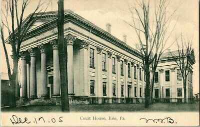 EARLY 1900'S. COURT HOUSE. ERIE, PA. POSTCARD v6