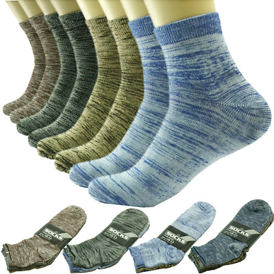 12 Pairs For Men Ankle Quarter Crew Socks Casual Thin Galaxy Cotton Stretch 9-13
