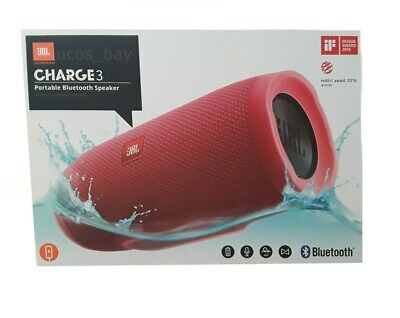 JBL CHARGE 3 Wireless Portable Rechargeable Waterproof Bluetooth Speaker Red