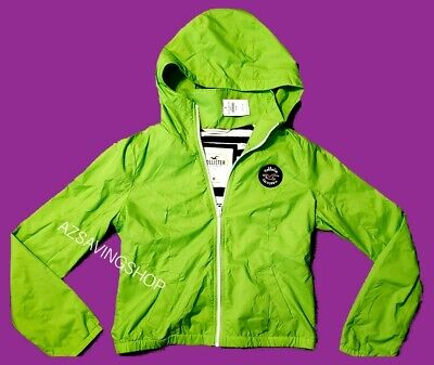 Hollister by Abercromb Junior's, Girls ,Water Resistant,  Hooded, zip up Jacket