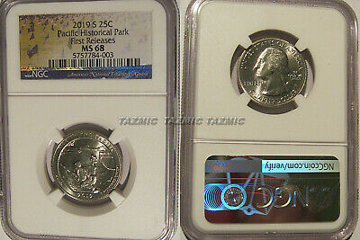 2019 S War in the Pacific Historical Park NP Quarter 25c NGC MS 68 First Release
