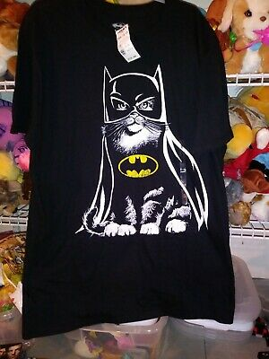 NWT Cat Batman Graphic Tee Shirt Size Medium Black