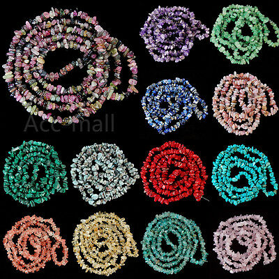 """Natural 5-8mm Freeform Chips Jewelry Making Loose Gemstone Beads Strand 34"""""""