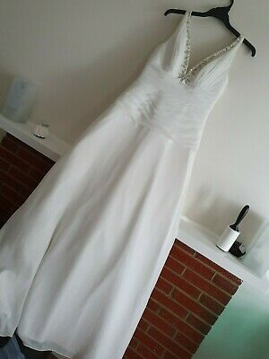 Womens MOONLIGHT Stunning Wedding Dress with Long Train - Size 10 - CLEARANCE!!