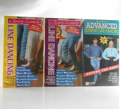 VHS lot of 3 Learn Country Line Dancing Videos Tapes Christy Lane & Diane Horner