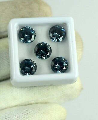 5 Pcs Round Color Changing Alexandrite Russian Gemstone Lot 12.50 Ct Certified