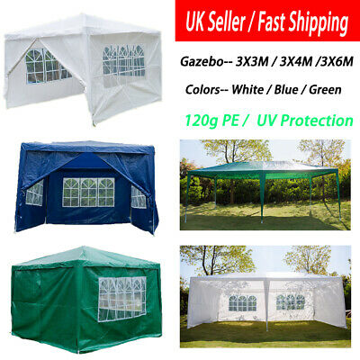 3x3m/3x4m/3x6m Gazebo Marquee Outdoor Garden Party Tent Canopy 4 Side Panel Wall