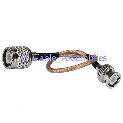 TNC Plug to BNC male Jumper pigtail cable RG316 15cm for Wireless lead adapter
