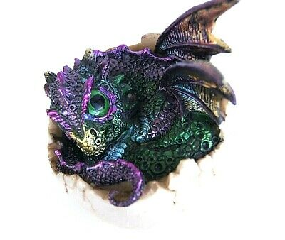 11cm baby dragon hatchling from egg collectible figurine home