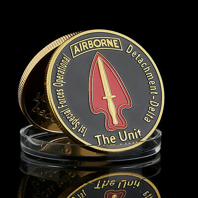 Unit 1st Special Forces Operational Airborne US Army Gold Challenge Coin