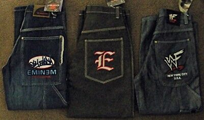Homies Skate JEANS Lot  EMINEM + EAST SIDE + WWF  fit 27W ~ Boys sz 9 to 10 NEW!