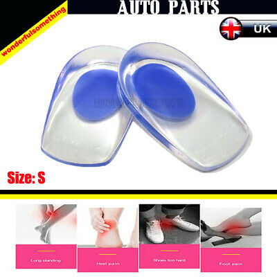 2x Support Silicone Heel Pad Fot Cup Shoot Standing Pain Planter Protector Shoe
