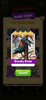 Creaky crow  Coin Master Cards Fast Delivery