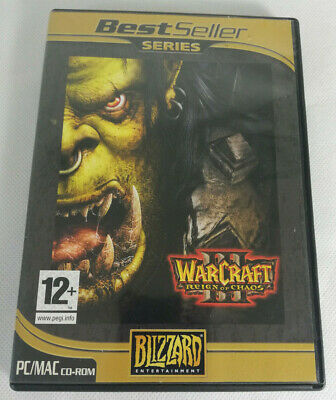 WARCRAFT III 3 REIGN OF CHAOS Pc / Apple Mac Cd Rom BS - FAST