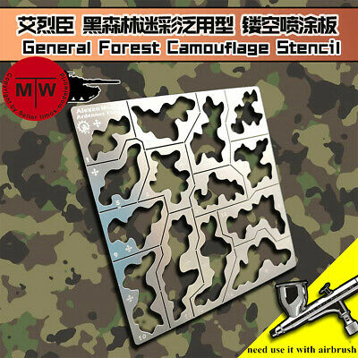 1/35 1/100 Forest Camouflage Stenciling Template Leakage Spray Model Tools