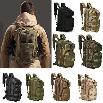 Men Military Tactical Army Backpack Rucksack Camping Hiking Trekking Bag Outdoor