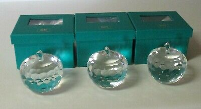 3c38e548befcf CLEAR CRYSTAL APPLE Paperweight Sun Catcher by Simon Designs of Oleg ...