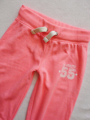bnwt NEXT girls  hot pink cuffed joggers soft trousers size  8 years