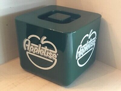 Appletise  Vintage Ice Bucket Cooler , plastic 1980's By Supadry england