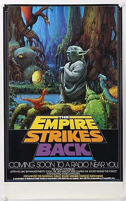 """Star Wars The Empire Strikes Back (National Public Radio, 1982) Poster 28""""x17"""""""