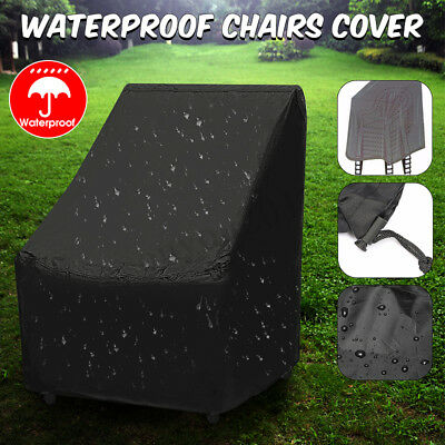 Waterproof Chair Cover Outdoor High Back Patio Stacking Furniture Protection *