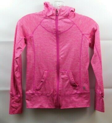 90 Degree By Reflex Pink Heather Hoodie Girls Size Small 7-8 Thumbhole