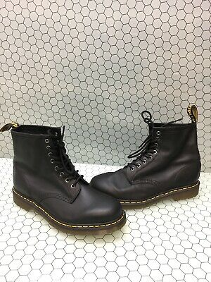 Dr. Martens 1460 Black Leather 8-Eye Lace Up Ankle Boots Men Size 10  Women's 11