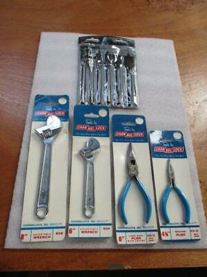 Channel Lock 4 Pc. Tool Set Wrenches, Pliers & B & D Wood Boring Bits USA NEW