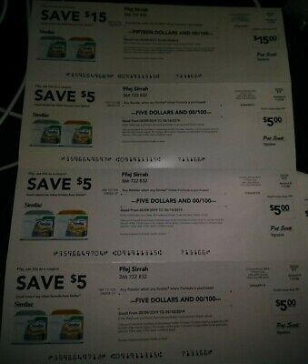 $30.00 in similac checks/ coupons+infant formula discount 15/5/5/5