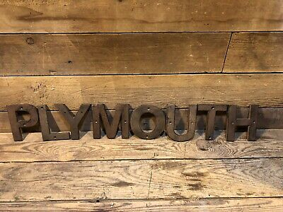 Cast Iron Plymouth Cars Pontiac Sign Gas Pump Oil Can Gulf Shell Porcelain Buick