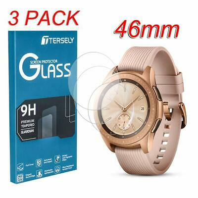 (3 Pack) Samsung Galaxy Watch Screen Protector 46mm, 9H Hardness Tempered Glass