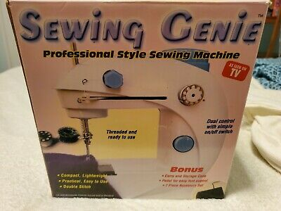 SEWING GENIE Portable Pro Style Mini Sewing Machine With Foot Pedal